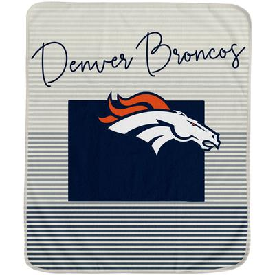 Denver Broncos 60'' x 70'' Ultra Fleece State Stripe Plush Blanket