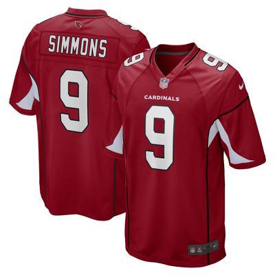 Men's Arizona Cardinals Isaiah Simmons Nike Cardinal Game Player Jersey