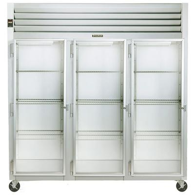 Traulsen Three-Section Half Height With Glass Doors Reach-In Refrigerator (G32013)