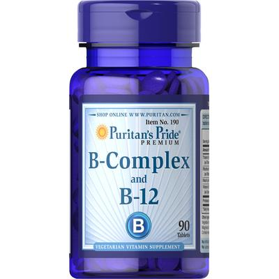 Puritan's Pride 2 Pack of Vitamin B-Complex and Vitamin B-12-90-Tablets