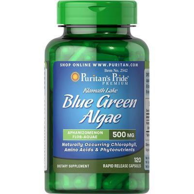 Puritan's Pride 2 Pack of Klamath Lake Blue Green Algae 500 mg-120-Capsules