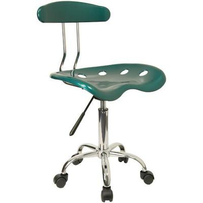 Vibrant Green and Chrome Task Chair w/Tractor Seat