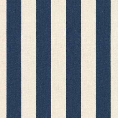 Canopy Stripe Navy & Sand Sunbrella Fabric by the Yard - Ballard Designs