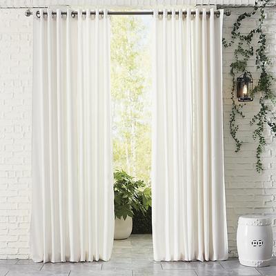 """Indoor/Outdoor Sheer Panel Sand 96"""" - Ballard Designs"""