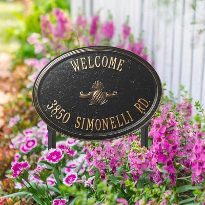 Designer Oval Lawn Address Plaqu...