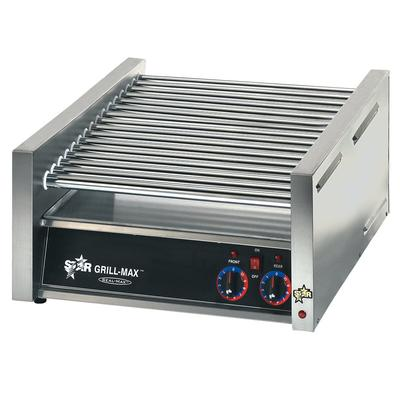 "Star Grill-Max 24"" W Hot Dog Roller Grill With Chrome Rollers (45C) - Stainless Steel"