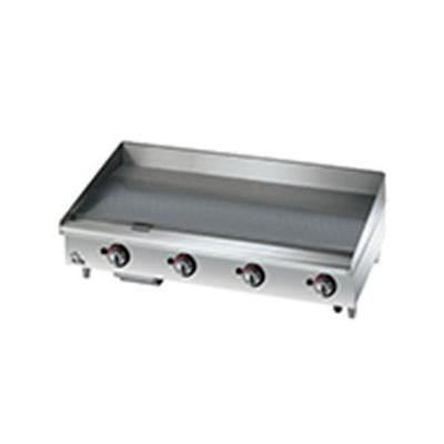 Star 36 Griddle 1 Chrome Plate, Thermostat Controls, 4-in Legs