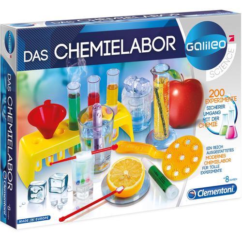 Clementoni Experimentierkasten Galileo - Das Chemielabor, Made in Europe mehrfarbig Kinder Ab 6-8 Jahren Altersempfehlung
