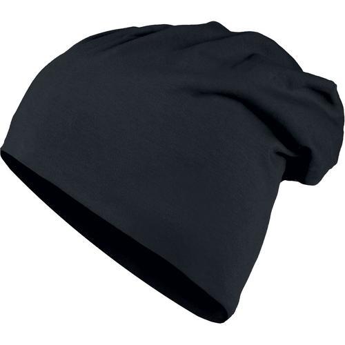 Urban Classics Jersey Beanie Mütze - schwarz