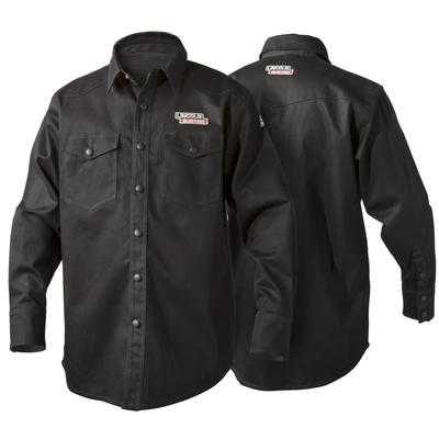 Lincoln Black Flame Retardant Welding Shirt - Medium