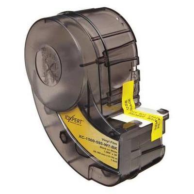 BRADY XC-1500-595-WT-BK Label Tape Cartridge, Black/White, Labels/Roll: