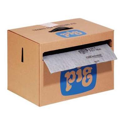 PIG MAT284 Absorbent Roll, Absorbs 9.2 gal. Universal, ,Gray