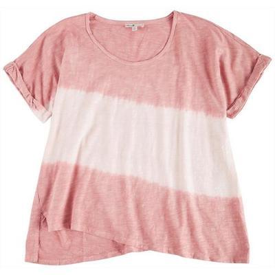 Seven 7 Womens Tye Dye Short Sleeve Top