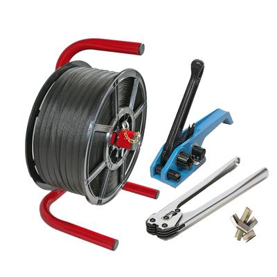 Strapping Kit-Dispenser +1500m Strapping, Tensioner, Sealer +250 Seals