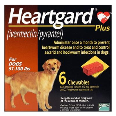 Heartgard Plus For Large Dog 51-100lbs (Brown) 12 Doses