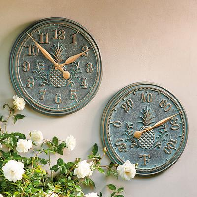 Classic Pineapple Clock - Bronze - Frontgate
