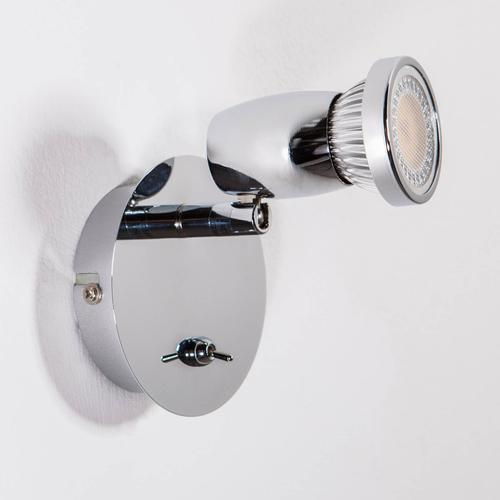 Chromglänzender LED-Spot Arminius