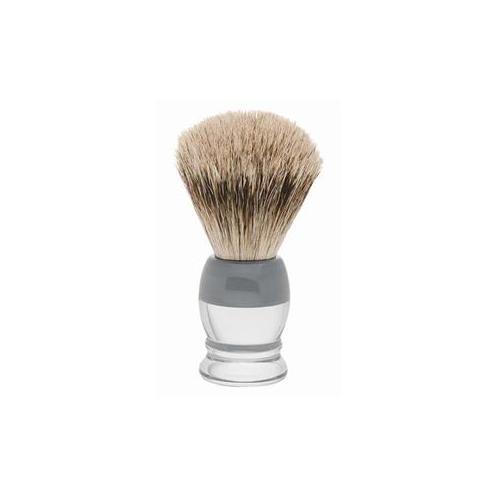 ERBE Shaving Shop Rasierpinsel Dachshaar, Plastikgriff weiß grau klein 1 Stk.
