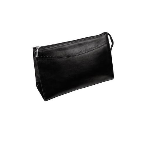 Hans Kniebes HK-Style Kulturtaschen Kulturtasche, echt Rindleder, 295 x 195 x 120 mm schwarz 1 Stk.