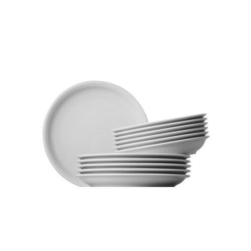 Thomas Porzellan Tafelservice Trend, (Set, 12 tlg.), Mikrowellengeeignet weiß Geschirr-Sets Geschirr, Tischaccessoires Haushaltswaren