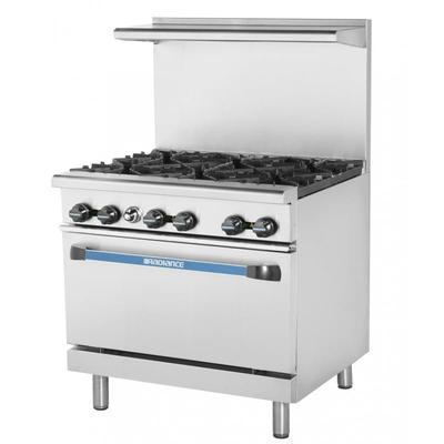 "Turbo Air TAR-6 36"" 6 Burner Gas Range w/ Standard Oven, Liquid Propane"