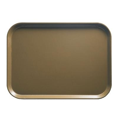 """Cambro 1015513 Fiberglass Camtray? Cafeteria Tray Insert - 15""""L x 10 1/10"""" W, Bay Leaf Brown"""