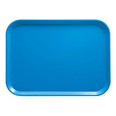 "Cambro 1116105 Fiberglass Camtray? Cafeteria Tray Insert - 15 4/5""L x 10 4/5""W, Horizon Blue"