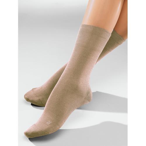 Avena Herren Diabetiker-Socken 2 Paar Beige