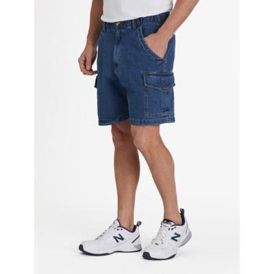 Men's Scandia Woods Relaxed-Fit Full-Elastic Cargo Shorts, Stonewash Denim 50