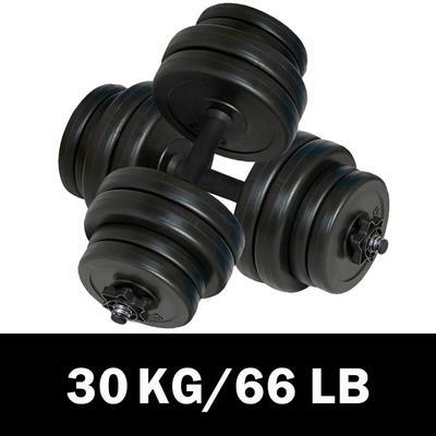 vidaXL Kit haltères 30 kg (lot de 2)