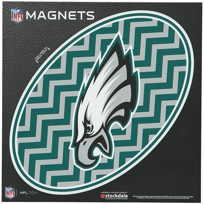 """Philadelphia Eagles Chevron 6"""" x Oval Full Color Magnet"""