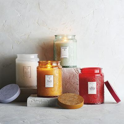 Voluspa Embossed Glass Candle - ...