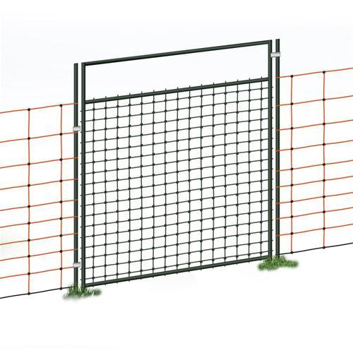 Tür für Elektrozaunnetze, elektrifizierbar, Komplettset, 105cm