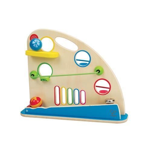 Hape Kugelbahn Kugel-Rennbahn bunt Kinder Holzspielzeug