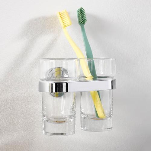 Emco Polo Doppelglashalter, Kristallglas klar 072500100