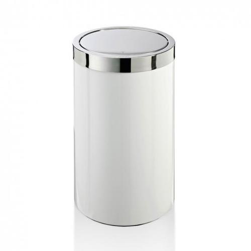 JOOP! CHROMELINE Wäschebehälter Ø 350 H: 580 mm chrom/weiß 010461002