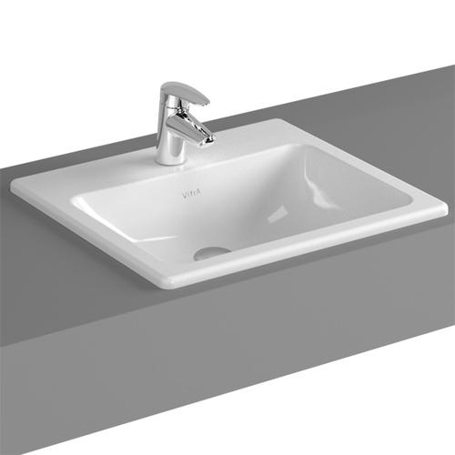VitrA S20 Einbauwaschtisch B: 50 T: 45 cm, mit 1 Hahnloch 5464B003-0001