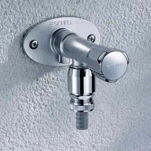 Schell frostsichere Außenwandarmatur POLAR II Set, 1/2 Zoll, Mauerwerk: 200-500 mm, DVGW zertifiziert 039980399