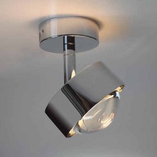 Top Light Puk Turn Deckenleuchte, dimmbar Halogen, Ø 8 H: 10.3 cm, chrom matt 2-28001, EEK: A+