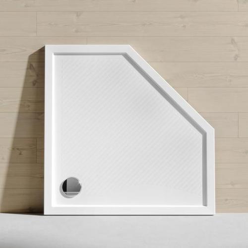 HÜPPE Purano Fünfeck Duschwanne B: 90/90 cm weiß mit rutschhemmender Oberfläche 210601055