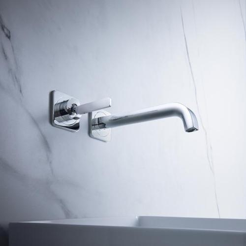 AXOR Citterio E Einhebel-Waschtischmischer mit Rosetten für Wandmontage Ausladung: 220 mm 36106000