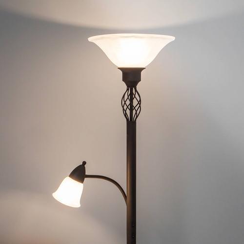 LED-Deckenfluter Dunja mit Leselampe