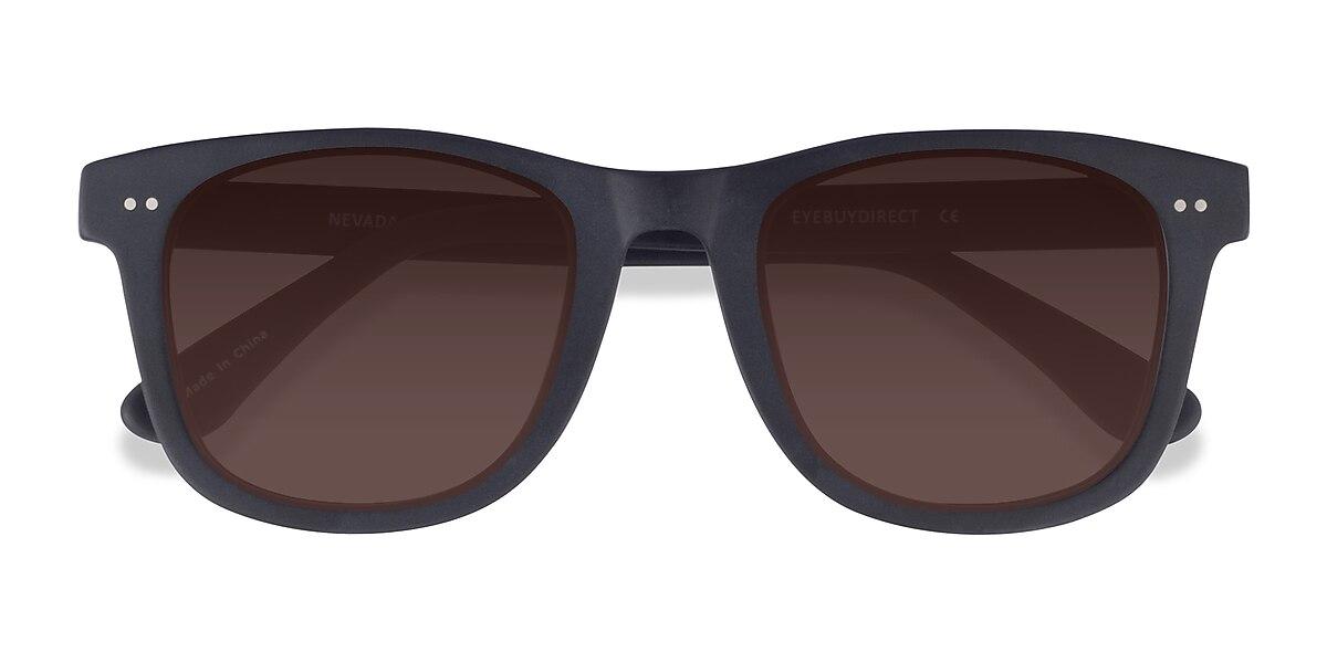 Unisex Square Matte Black Acetate Prescription sunglasses - EyeBuydirect's Nevada