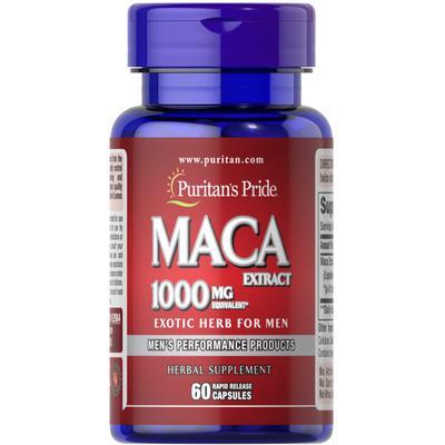 Puritan's Pride Maca 1000 mg Exotic Herb for Men -60 Rapid Release Capsules