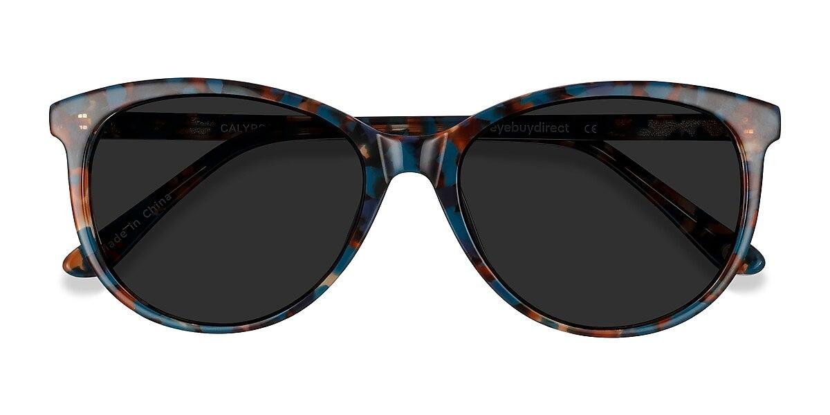 Female's Horn Floral Acetate Prescription sunglasses - EyeBuydirect's Calypso