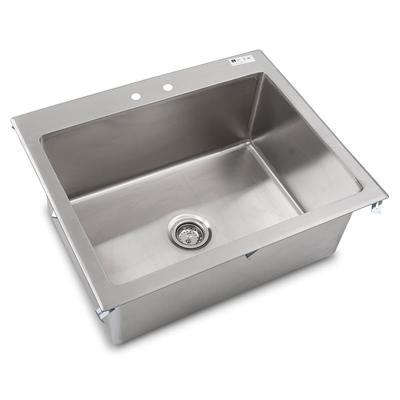 John Boos PB-DISINK282012 (1) Compartment Drop-in Sink – 28″ x 20″, Drain Included