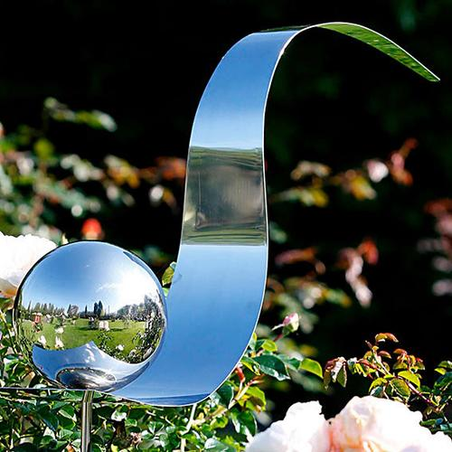 Lichtfang Rosenkugel aus Edelstahl