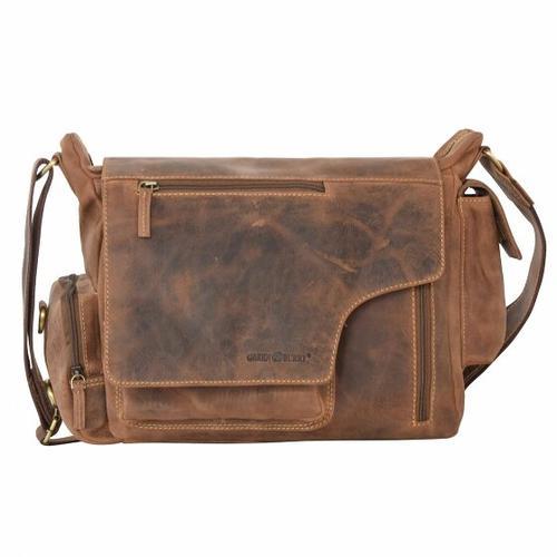 Greenburry Vintage Messenger II Leder 39 cm brown
