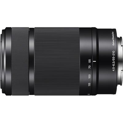 Sony 55-210mm f/4.5-6.3 Telephoto Lens for Most Sony Alpha E-Mount Cameras - Black - SEL55210/B