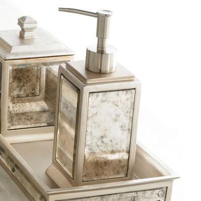 Palazzo Lotion Soap Dispenser Antique Silver , Antique Silver